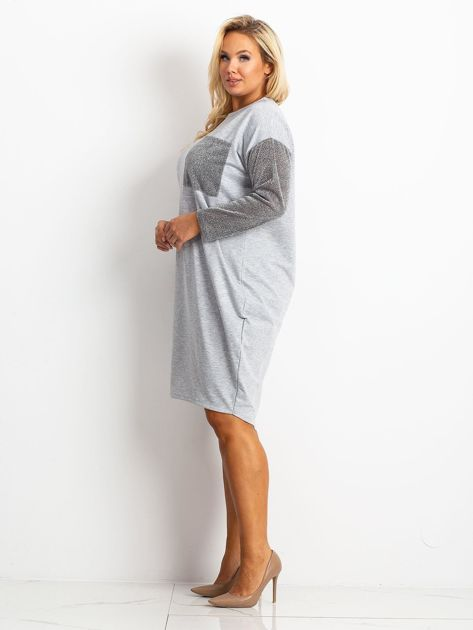 Szara sukienka plus size Desire                              zdj.                              3