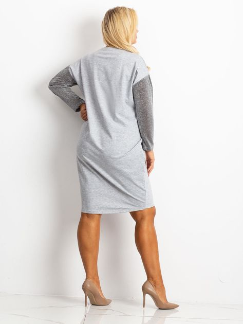 Szara sukienka plus size Desire                              zdj.                              2