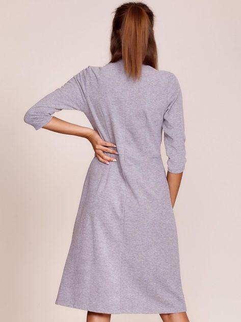 Szara sukienka z półgolfem                              zdj.                              2
