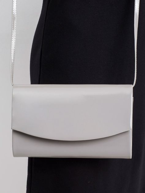 Szara torebka kopertówka