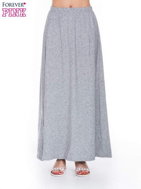 Szara zwiewna spódnica maxi
