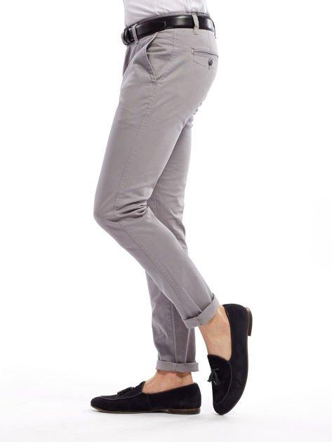 Szare bawełniane spodnie męskie chinosy                               zdj.                              11