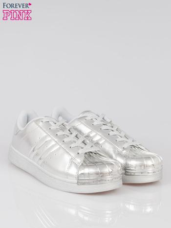 Szare buty sportowe material Enigmatic z metalicznym czubkiem                                  zdj.                                  2