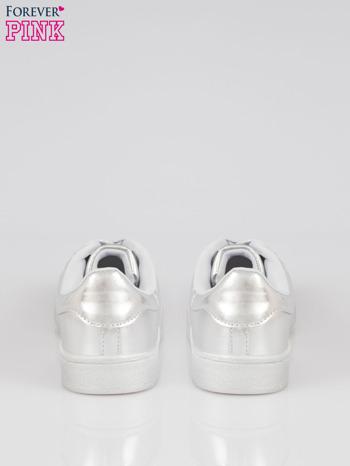 Szare buty sportowe material Enigmatic z metalicznym czubkiem                                  zdj.                                  3
