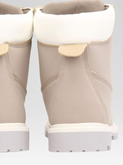 Szare buty trekkingowe damskie traperki                                  zdj.                                  8