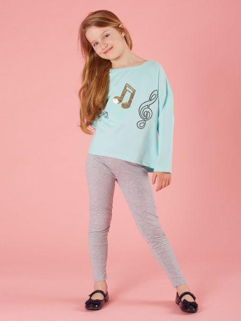 Szare dziewczęce legginsy basic                              zdj.                              4