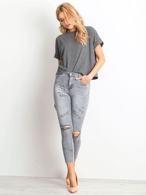 Szare jeansy Chambray                              zdj.                              4