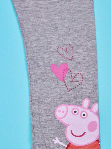 Szare legginsy dla dziewczynki motyw ŚWINKA PEPPA                                  zdj.                                  4