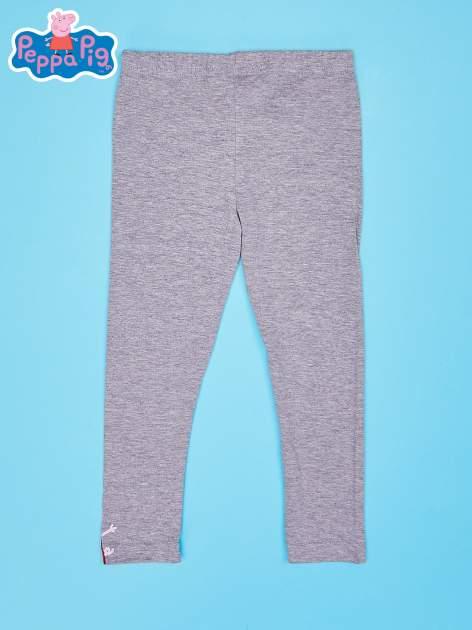 Szare legginsy dla dziewczynki motyw ŚWINKA PEPPA                                  zdj.                                  2