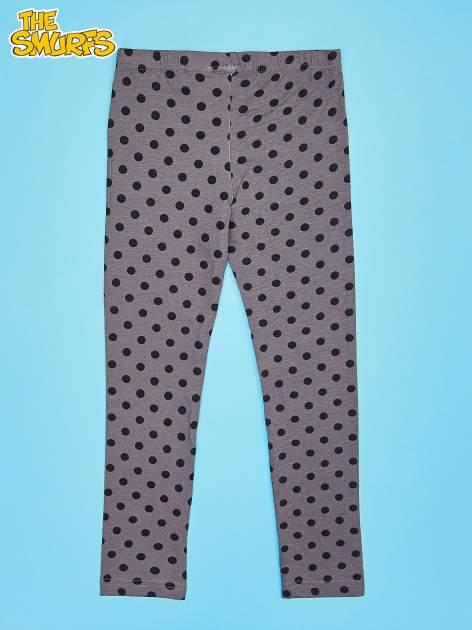 Szare legginsy w groszki dla dziewczynki SMERFY                                  zdj.                                  2