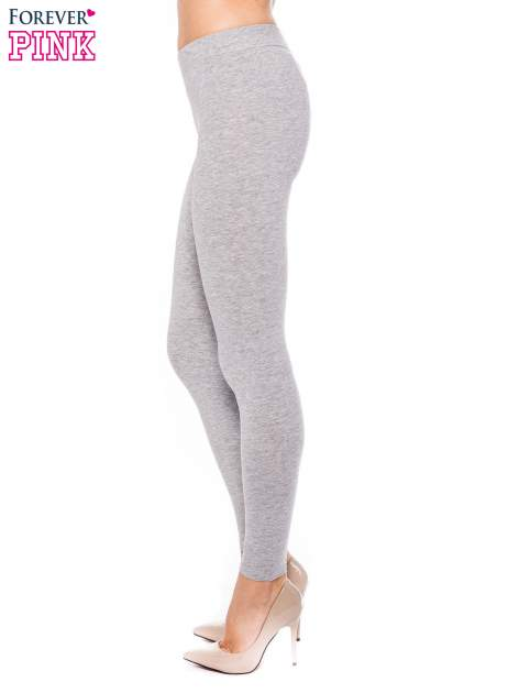 Szare legginsy z bawełny                                  zdj.                                  2
