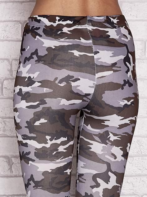 Szare legginsy z nadrukiem moro                                  zdj.                                  6