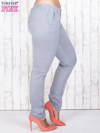 Szare materiałowe spodnie z przednimi kieszeniami PLUS SIZE                                  zdj.                                  3