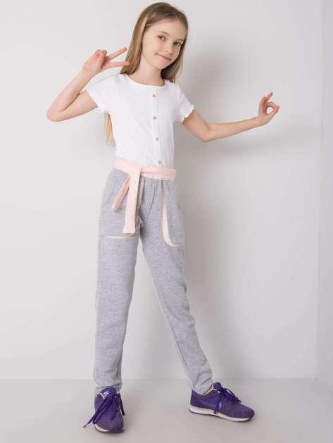 Szare spodnie dresowe dla dziewczynki DODO KIDS