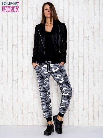 Szare spodnie dresowe moro z troczkami                                  zdj.                                  5
