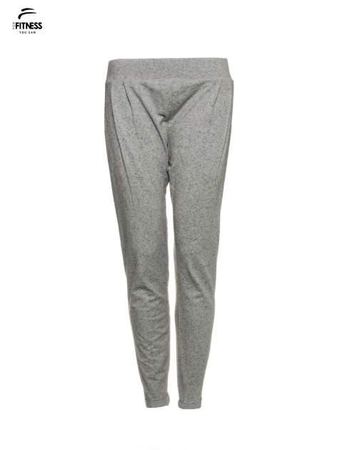 Szare spodnie dresowe z prostą nogawką                                  zdj.                                  2