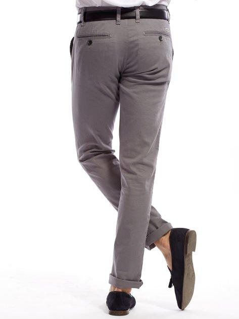 Szare spodnie męskie chinosy o prostym kroju                                  zdj.                                  11