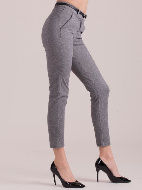 Szare spodnie w drobny wzór                              zdj.                              3