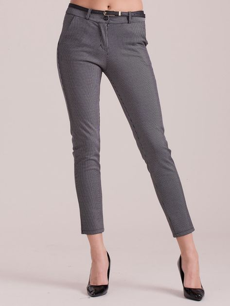 Szare spodnie w paski                               zdj.                              1