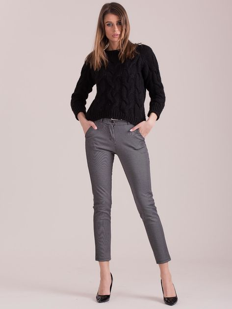 Szare spodnie w paski                               zdj.                              4