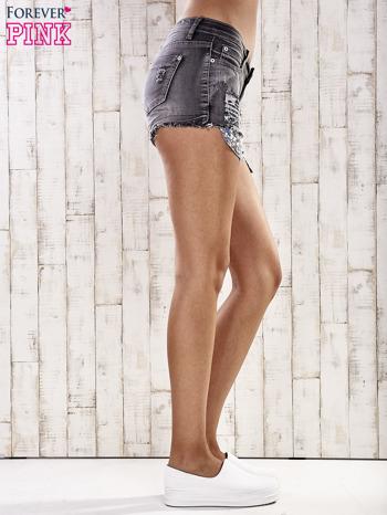Szare szorty jeansowe z przetarciami                                  zdj.                                  5