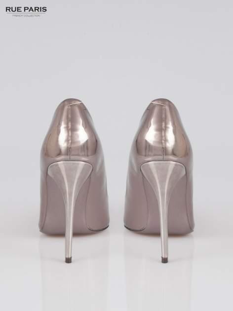 Szare szpilki metaliczne Mirror Heels                                  zdj.                                  3