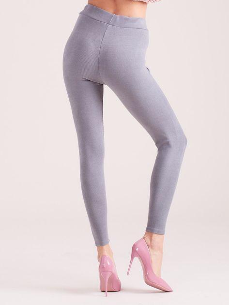 Szare sztruksowe legginsy                               zdj.                              2