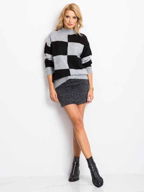 Szaro-czarny sweter Francesca                              zdj.                              4