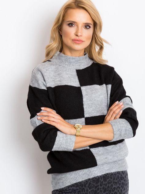 Szaro-czarny sweter Francesca                              zdj.                              6