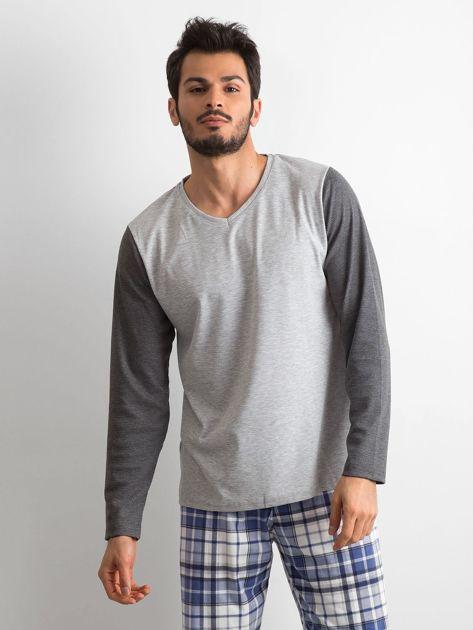 Szaro-granatowa piżama męska