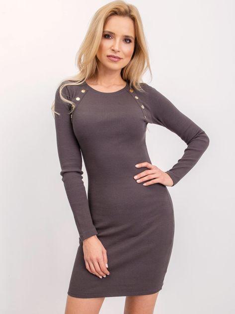 Szaro-khaki sukienka Desirable