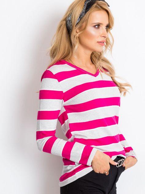 Szaro-różowa bluzka Ava                              zdj.                              3