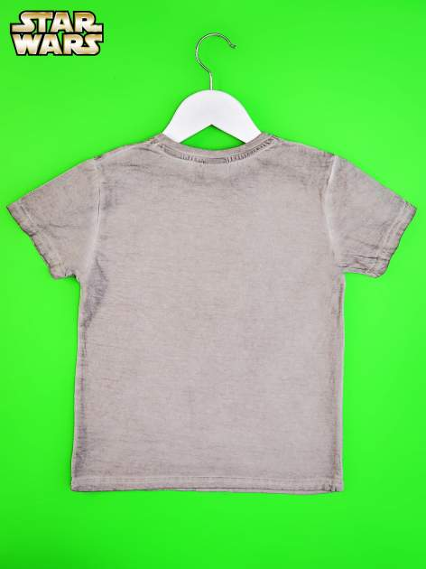 Szary dekatyzowany t-shirt chłopięcy STAR WARS                                  zdj.                                  2