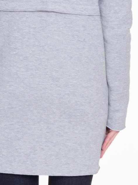 Szary dresowy bluzopłaszczyk o pudełkowym kroju                                  zdj.                                  9