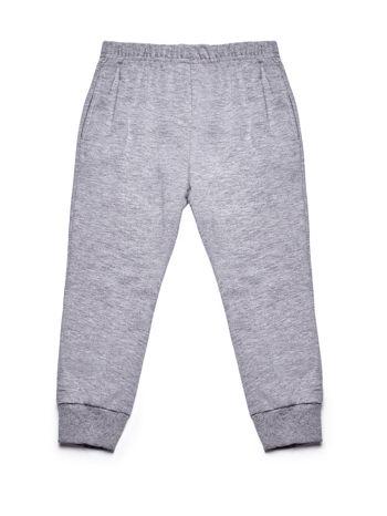 Szary komplet dla dziewczynki bluza i spodnie                              zdj.                              4