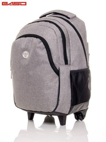 Szary plecak szkolny na kółkach