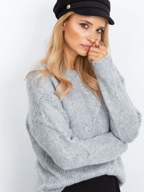 Szary sweter Tiffany                              zdj.                              3