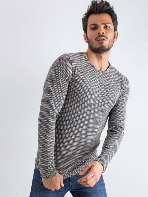 Szary sweter męski Mosaic                              zdj.                              1
