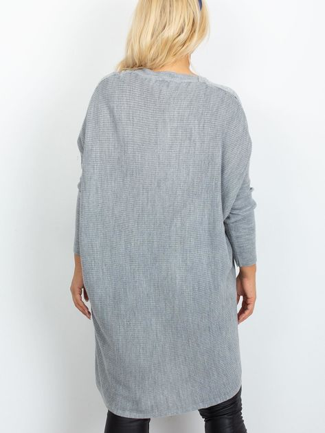 Szary sweter plus size Ester                              zdj.                              2