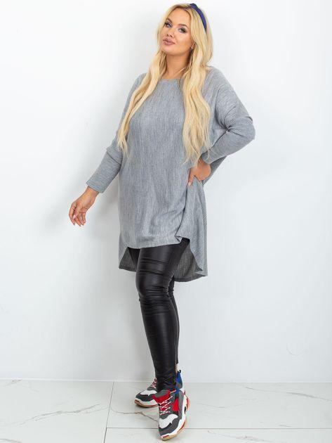 Szary sweter plus size Ester                              zdj.                              4