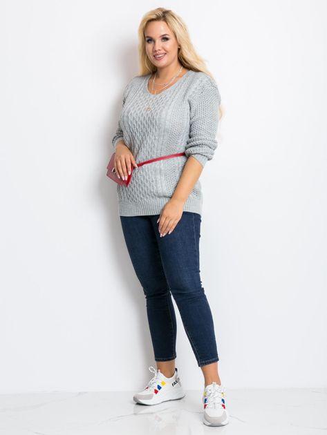 Szary sweter plus size Tango                              zdj.                              3