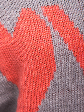 Szary sweter z sercem i napisem YOU                                  zdj.                                  6
