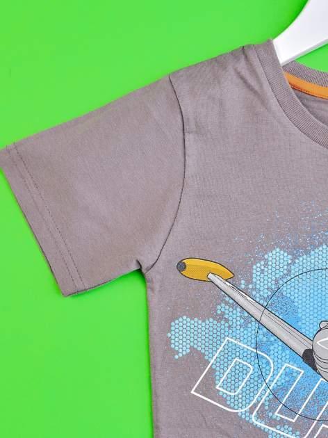 Szary t-shirt chłopięcy SAMOLOTY                                  zdj.                                  3