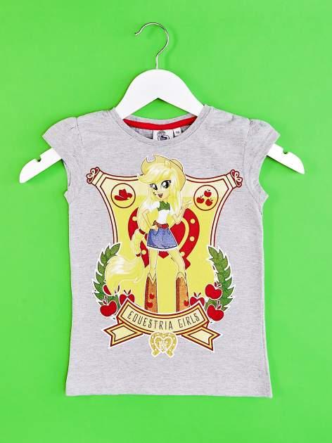 Szary t-shirt dla dziewczynki EQUESTRIA GIRLS