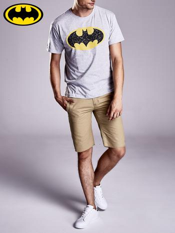 Szary t-shirt męski BATMAN                                  zdj.                                  5