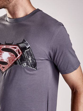Szary t-shirt męski BATMAN V SUPERMAN                                  zdj.                                  7