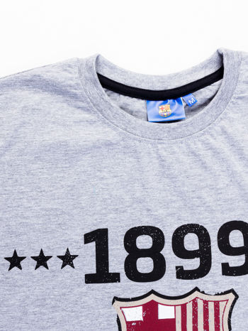 Szary t-shirt męski FC BARCELONA                                   zdj.                                  12