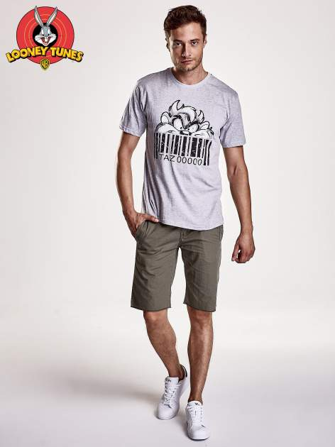Szary t-shirt męski LOONEY TUNES                                  zdj.                                  2