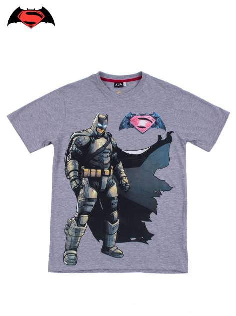 Szary t-shirt męski z nadrukiem BATMAN V SUPERMAN                                  zdj.                                  9