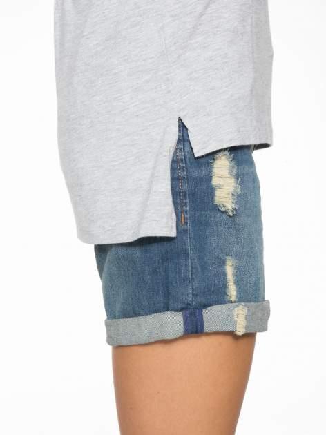 Szary t-shirt z rękawami tylem typu cut out                                   zdj.                                  10